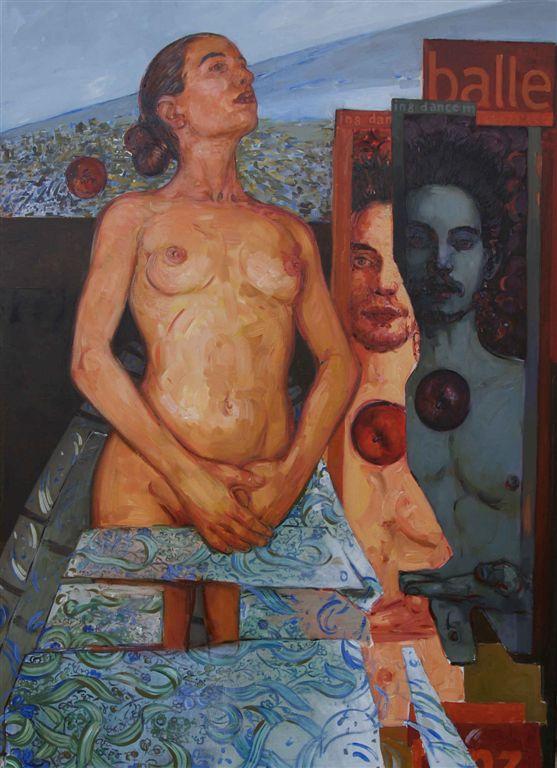 Bruno Griesel, 'Balle-Balle', 150x120 cm, Öl/LW., 2004/5