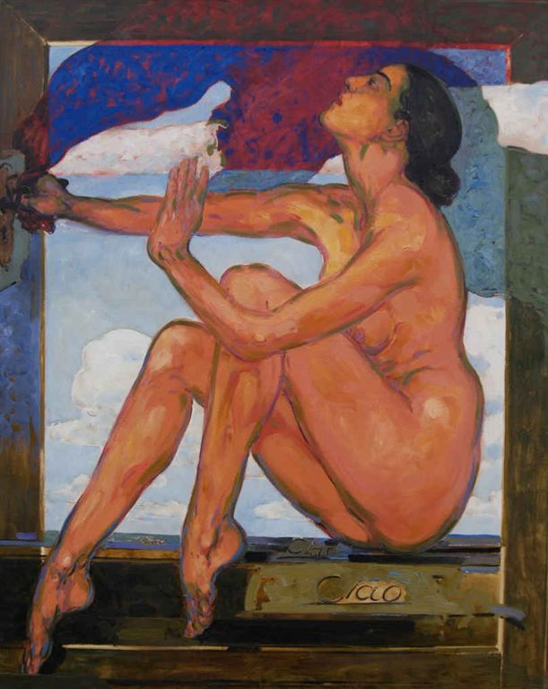 Bruno Griesel, 'Ciao', 160x120 cm, Öl/LW., 2003/4