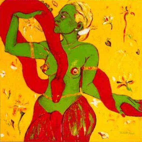 Saane Süßmilch, 'Traum/II', Öl auf Leinwand, 70 x 70 cm, 2003