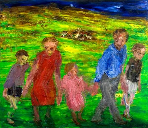 André Böhme, 'Wanderung',Öl auf Leinwand, 2003, 200 x 230