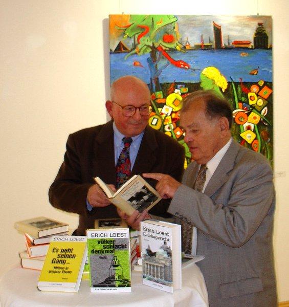 Erich Loest in der Galerie Leipziger Schule im Galerie Hotel Leipziger Hof