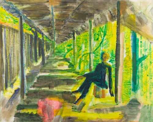 Britta Schulze, 'Der-Durchgang', 2004, 130x180cm