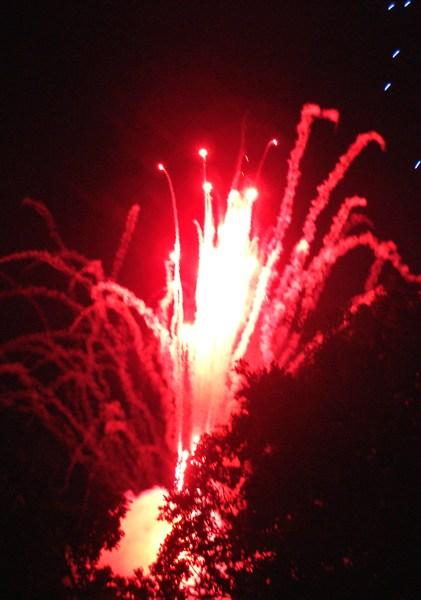 Feuerwerk in der Galgenbergschlucht