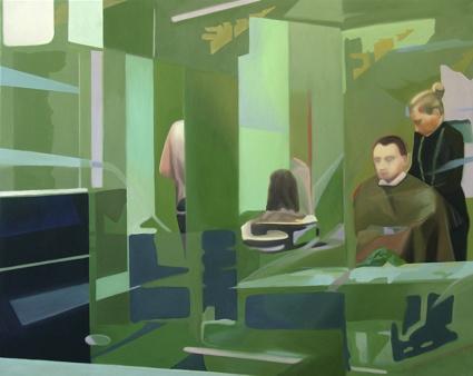 Martin Kreim, 'Friseuse', Öl auf Leinwand, 2007, 120 x 150 cm