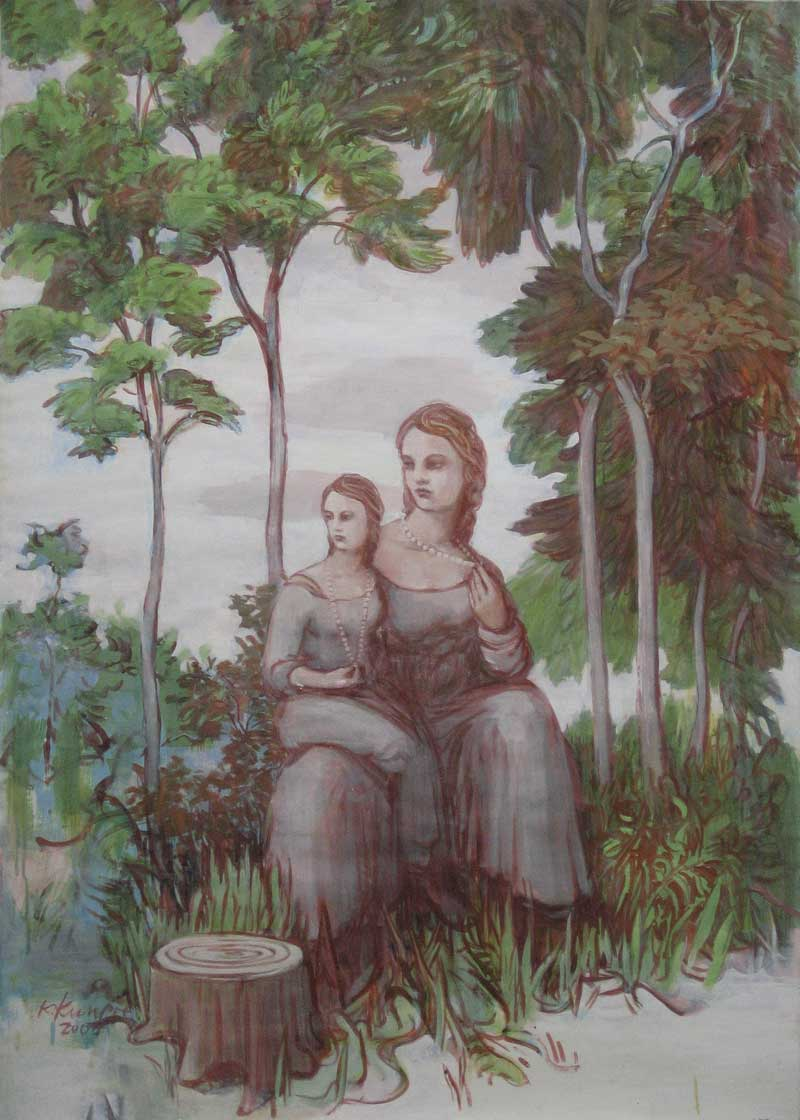 Katrin Kunert, 'Im Wald', Mischtechnik auf Leinwand, 2008, 180 x 150 cm