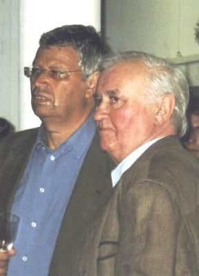 Siegfried Mahler(re.) und Gerhard Polt in der galerie.leipziger-schule.