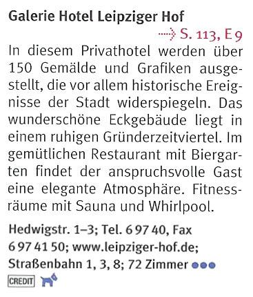 Galerie Hotel Leipziger Hof Hedwigstr