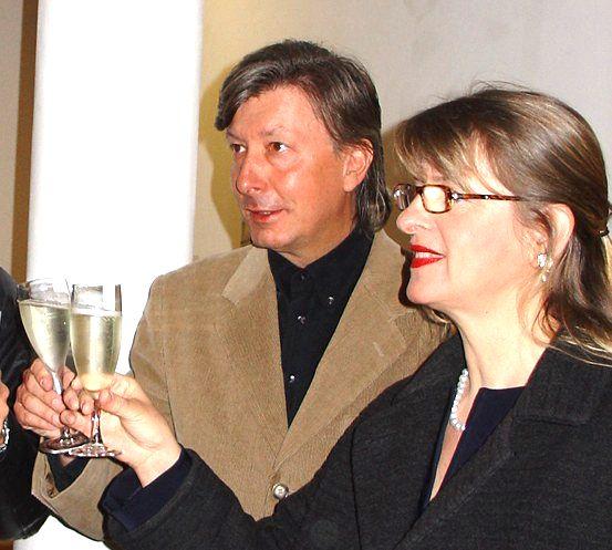 Rainer und Sylvia Schade in der Galerie