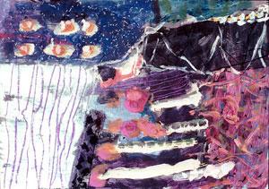 Henrik Pillwitz, 'Steg', 2002, Tempera/Pastell auf Papier, 65 x 85 cm